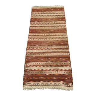 19th Century Turkish Fine Wool Kilim Rug For Sale