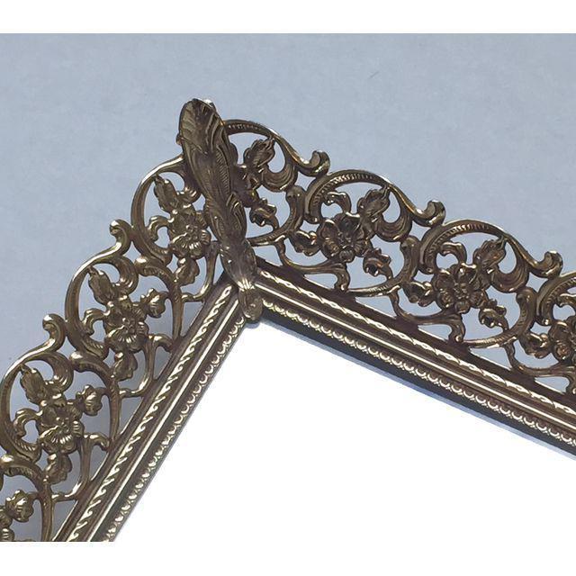 Rectangular Filigree Detail Vanity Mirrored Tray - Image 3 of 5