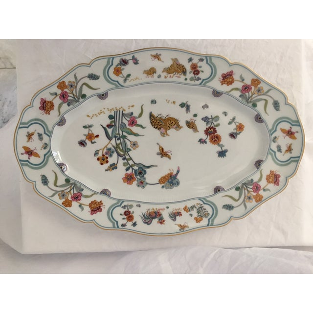 "Ceramic Haviland Limoge ""Golden Quail"" Oval Platter For Sale - Image 7 of 7"