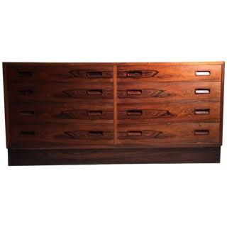 Danish Modern Poul Hundevad Rosewood Dresser Sideboard For Sale