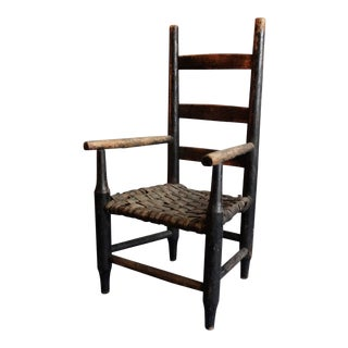 Americana Ladderback Child's Chair Original Paint For Sale
