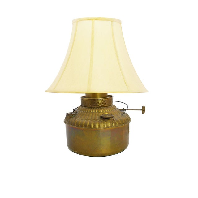 Converted Antique Brass Oil Lamp - Image 1 of 4