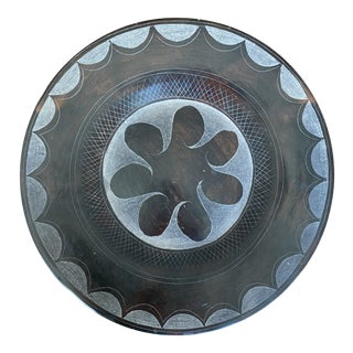 Late 20th Century Terracotta Decorative Plate For Sale