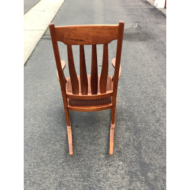 Sam Maloof Vintage Mid Century Studio Crafted Rocking Chair For Sale - Image 4 of 13