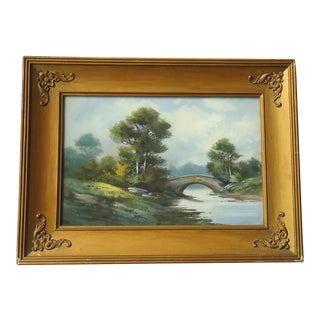 1930s Antique Samuel S Lain American Country Landscape Painting For Sale