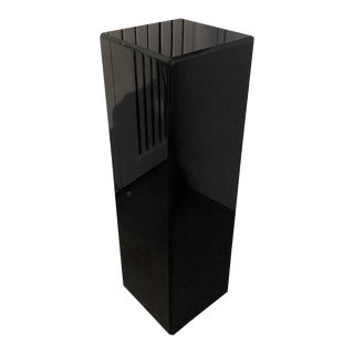 "Vintage Pedestal Black Lucite 26.5"" High For Sale"
