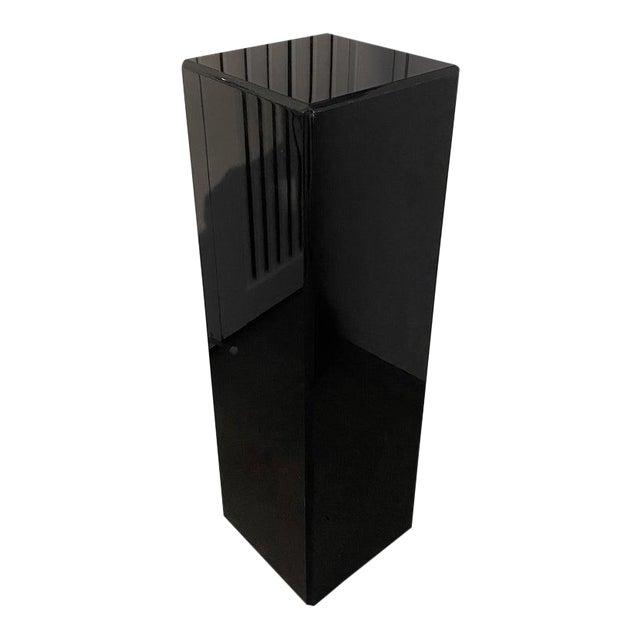"""Vintage Pedestal Black Lucite 26.5"""" High For Sale"""