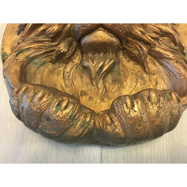 African Lion Head Wall Sculpture For Sale - Image 3 of 7