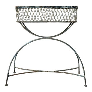 French Wrought Iron Jardinière or Planter, circa 1900 For Sale