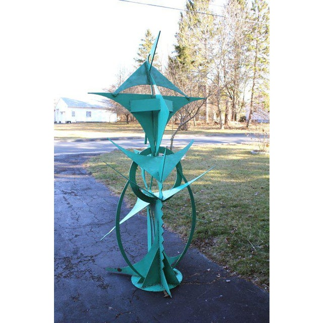 Contemporary Waylande Gregory Iron Bird Sculpture For Sale - Image 3 of 10