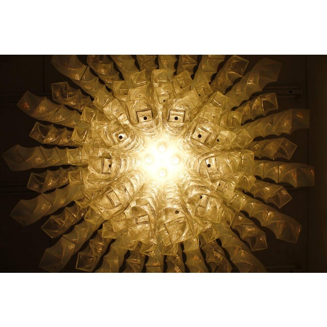Metal Huge Murano Chandelier by Roberto Pamio & Renato Toso for Leucos, Italy, 1970 For Sale - Image 7 of 10