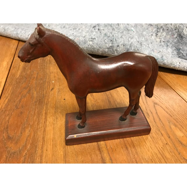 Vintage Carved Wooden Horse - Image 2 of 3