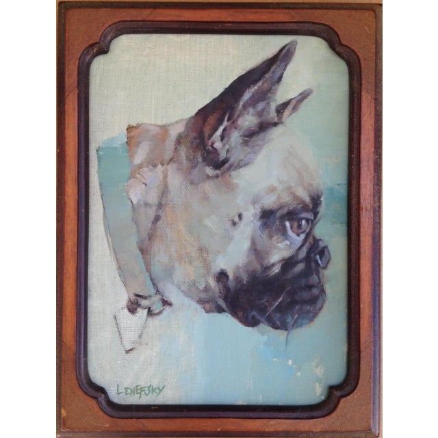 French Bulldog Oil Painting - Image 5 of 5