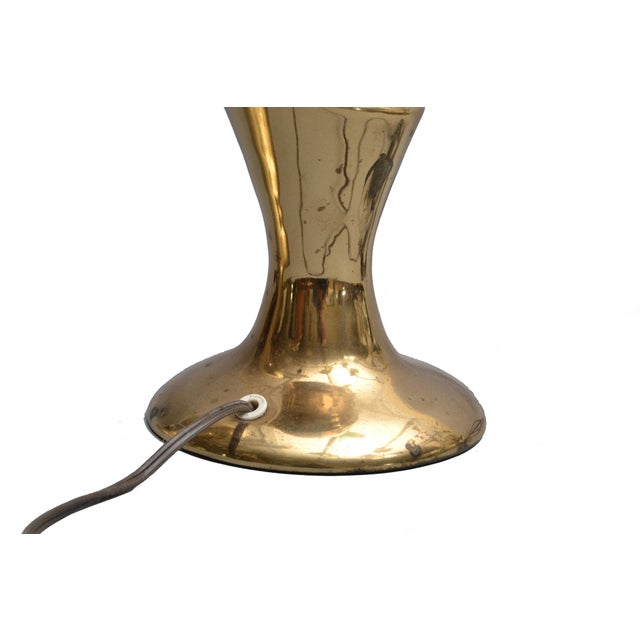 Brass Pair of Art Deco Brass Table Lamps by Heyco For Sale - Image 7 of 9