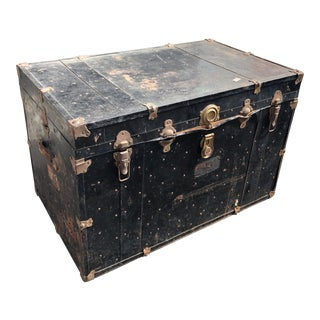 Oversized Vintage Mercury Luggage Trunk For Sale