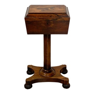 19th Century English Rosewood Tea Poy For Sale