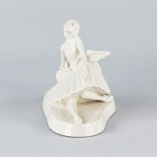 Signed French Ceramic Figurine of Ballerina Anna Pavlova, 1930s - Image 4 of 11