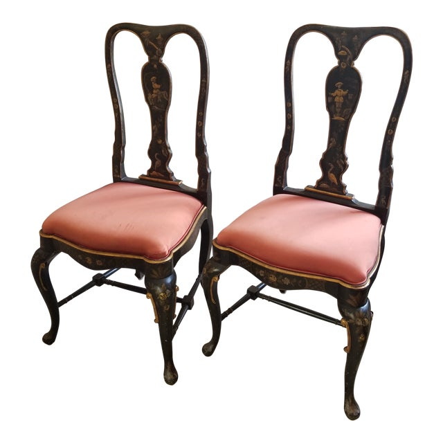Pair of Chinoiserie Chairs For Sale