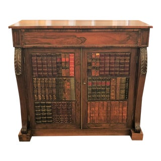 Antique English Rosewood William IV Library Cabinet. For Sale