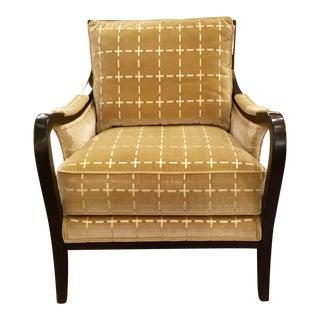 Ferguson Copland Cut Velvet Goldedn Club Chair For Sale