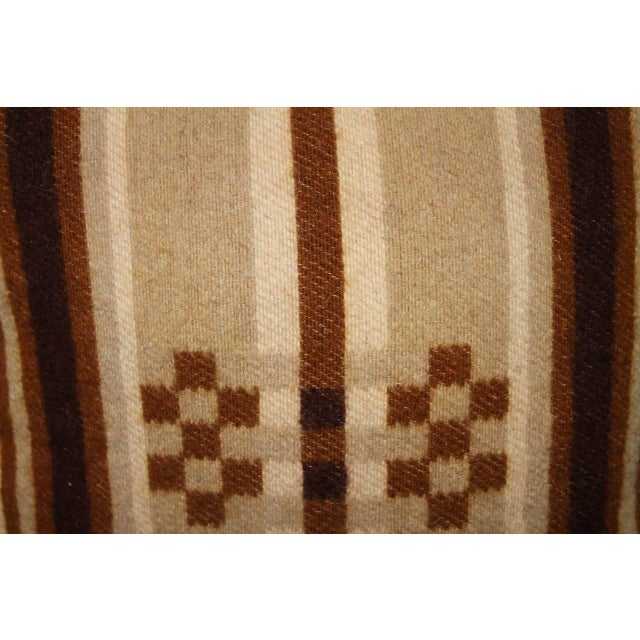 Brown Group of Four Horse Blanket Pillows For Sale - Image 8 of 10