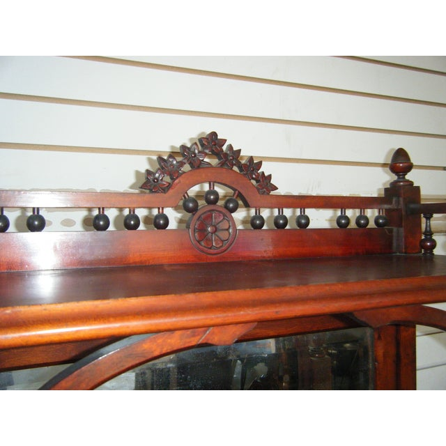 Antique Victorian Mahogany Etagere Mirror Shelves For Sale - Image 6 of 8