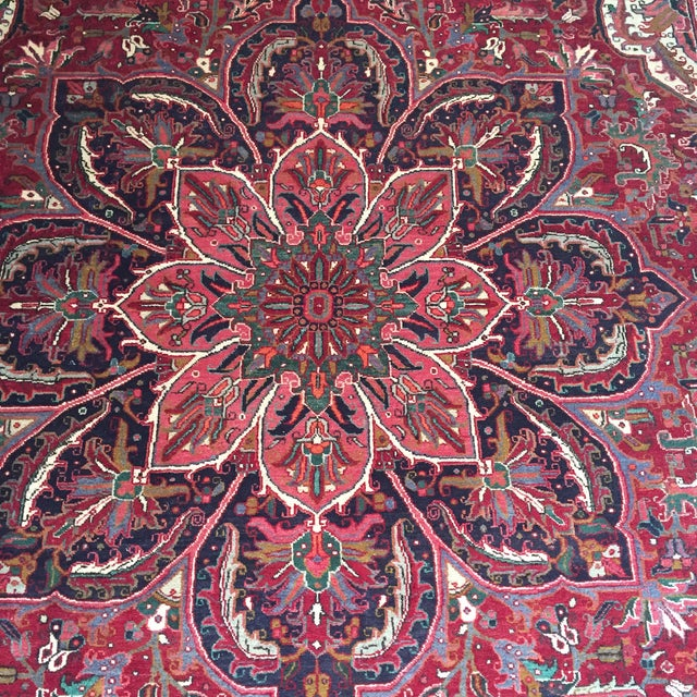 "Vintage Persian Heriz Rug - 9'8"" x 13' - Image 5 of 6"