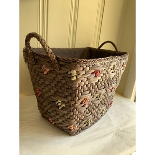 Seagrass Lined Organizational Boho Basket Preview