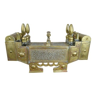19th Century Persian Brass Shoe Shine Stand For Sale