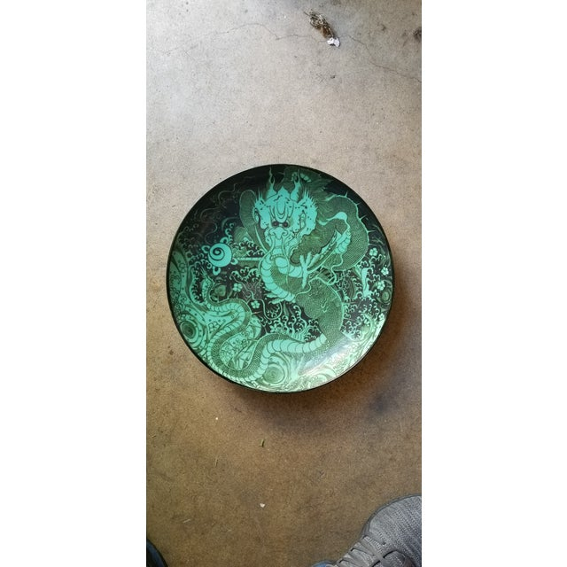 Green Dragon Charger Plate For Sale In Los Angeles - Image 6 of 6