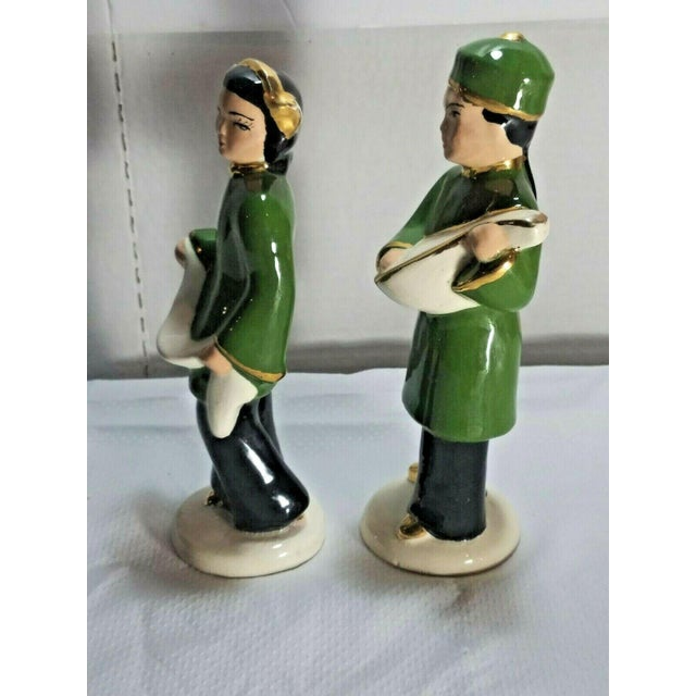 1960s Vintage M. Craver Asian Couple Porcelain Figurines - a Pair For Sale - Image 5 of 9