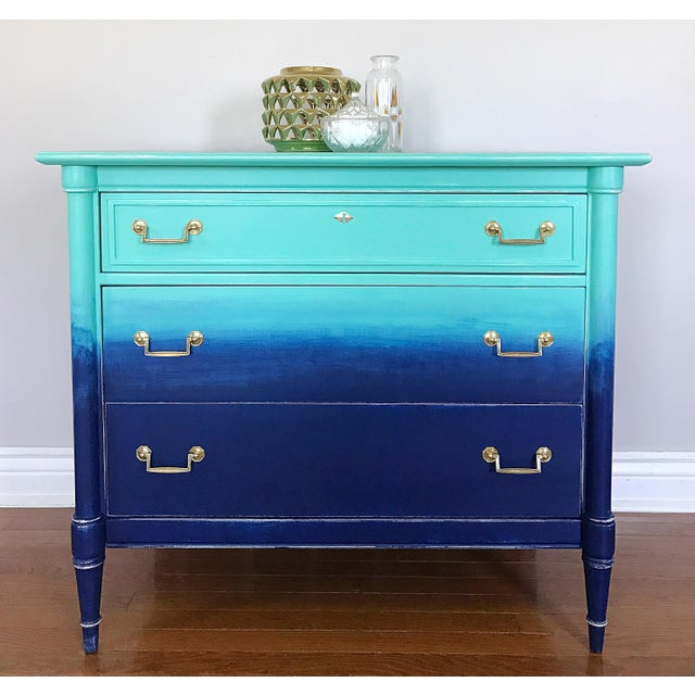 Turquoise Navy Ombré Dresser Image 5