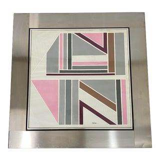 1973 Greg Copeland Studios Artist Signed Op Art Print For Sale