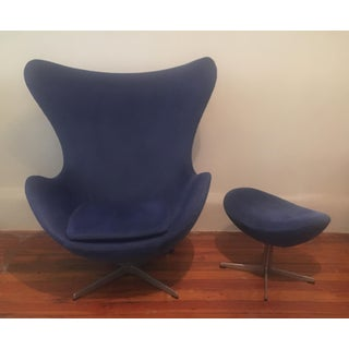 1980s Vintage Arne Jacobsen for Fritz Hansen Egg Chair & Ottoman Preview