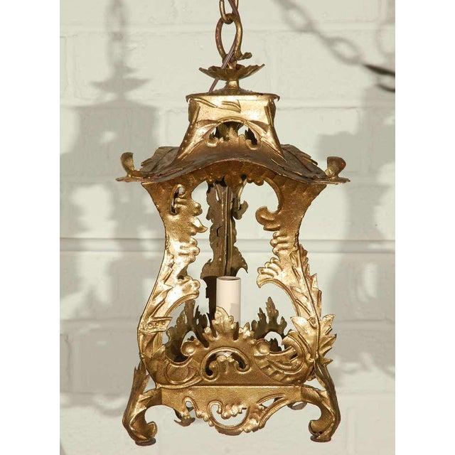 Pair of Venetian Style Tole Lantern Pendants - Image 3 of 8