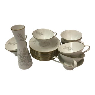"1950s Vintage Rosenthal Raymond Loewy ""Grasses"" China Set- 21 Pieces For Sale"