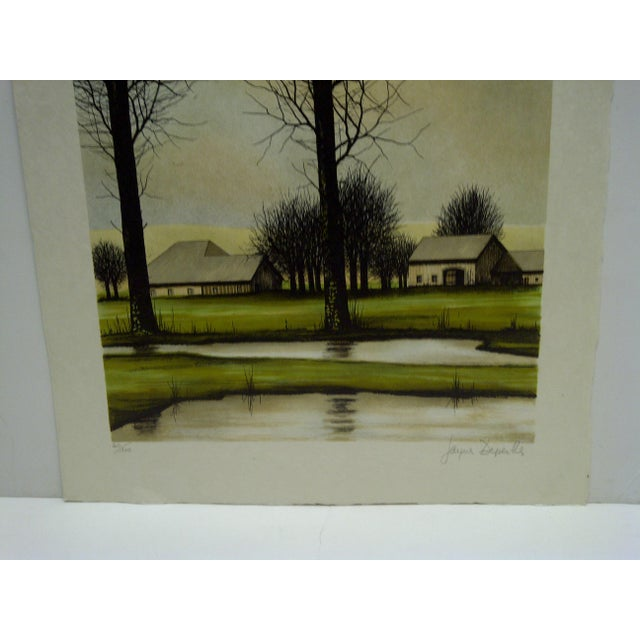 """Limited Edition """"Two Trees"""" Signed Print by Deperthes For Sale - Image 4 of 6"""