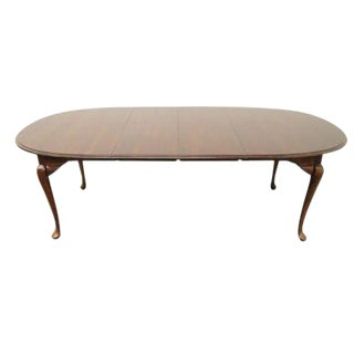 20th Century Traditional Cresent Furniture Solid Cherry Dining Table For Sale