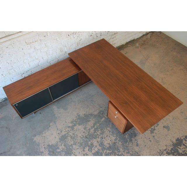 1950s George Nelson for Herman Miller L-Shaped Executive Desk, 1950s For Sale - Image 5 of 13