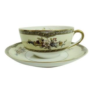Mid 20th Century Noritake Windsor Teacup Set - 2 Pieces For Sale