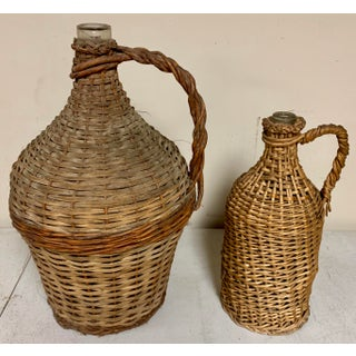 Set of 2 French Wicker Wrapped Bottles,S/2 Preview