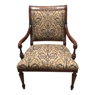 Modern Upholstered Georgian Regents Accent Chair For Sale