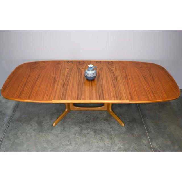 Brown N.O. Moller / Gudme Danish Teak Dining Table For Sale - Image 8 of 11
