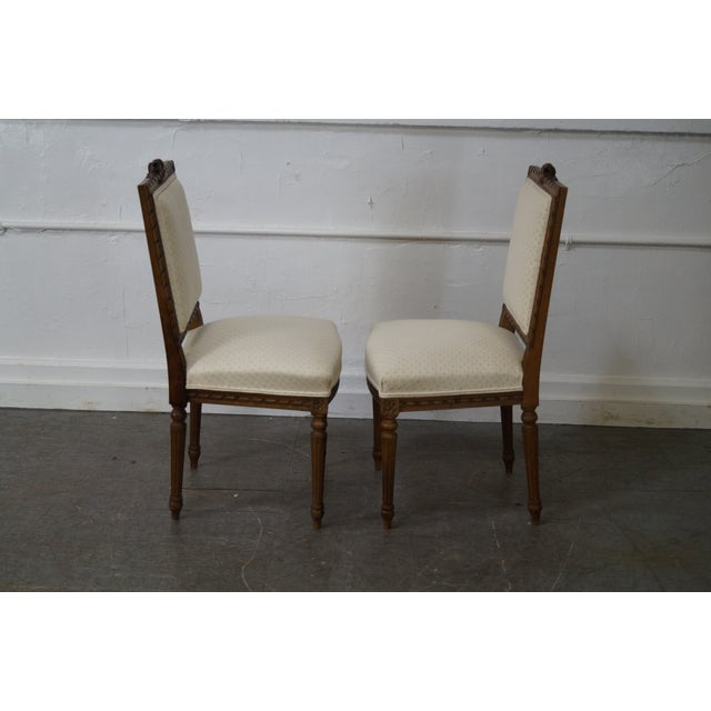Antique Louis XVI Walnut Side Chairs - A Pair - Image 2 of 10