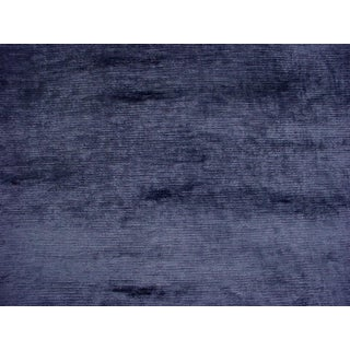 4-5/8y Zoffany Sanderson 332719 Aldwych Blue Stone Velvet Upholstery Fabric For Sale