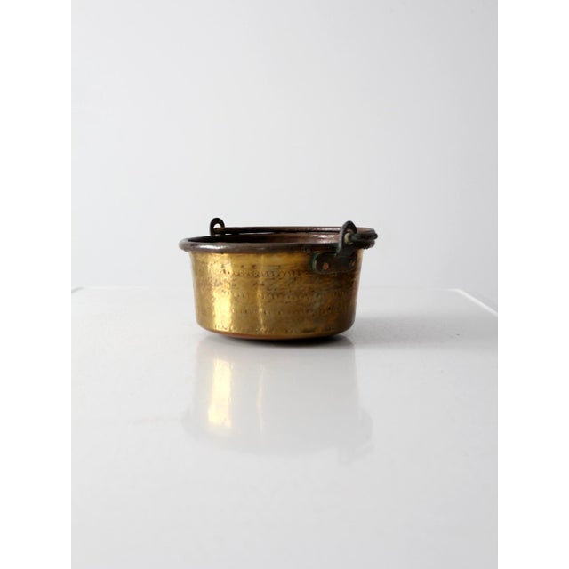 Antique Brass Plated Copper Pot - Image 5 of 8
