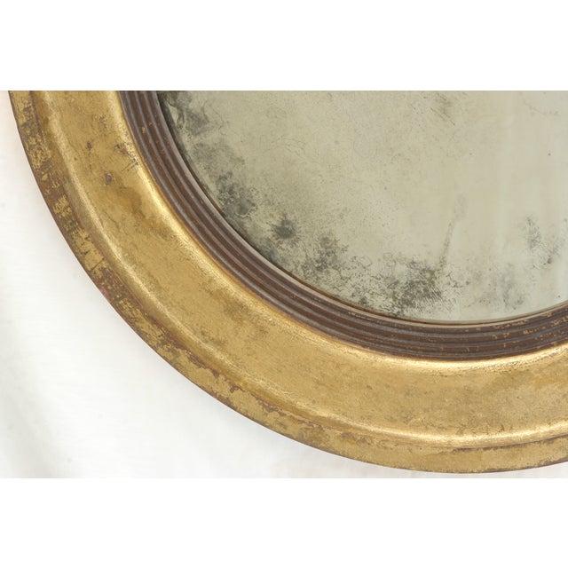 Suzanne Bonham Round Gilded Antiqued Mirror - Image 4 of 6