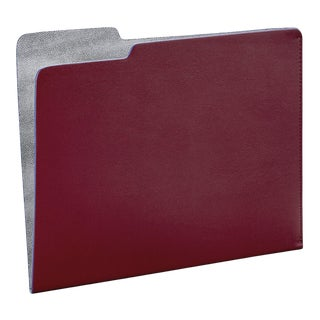 File Folder, Bonded Leather in Red For Sale