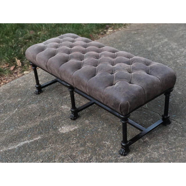 Awe Inspiring Au Petite Parisien France Cast Iron Lion Foot Bench Gmtry Best Dining Table And Chair Ideas Images Gmtryco