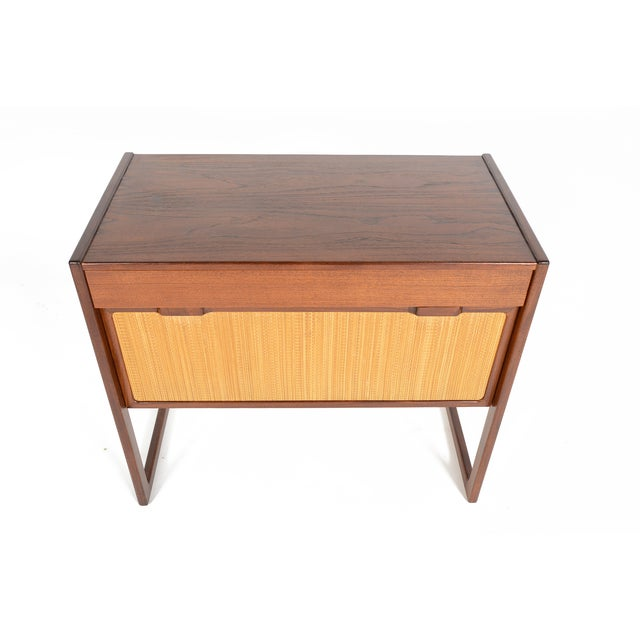 Danish Modern Teak and Grasscloth Entry Chest - Image 7 of 10